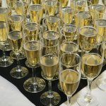 Champagne toast for wedding party
