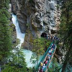 waterfalls and bridges