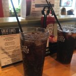 Cold drinks at the West Side Market Cafe.