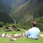 Staring down the valley and the Urubamba river