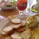 Crab Eggs Benedict. I would have enjoyed a side toasted English muffin!!