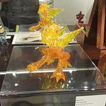 Glass dragon in the glass exhibit