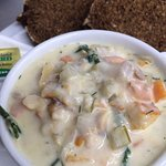 Award winning chowder and homemade Guinness bread is highly recommended.