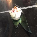 Course 10 - Scoffed it in one - cute tasty cupcake with passionfruit suprise