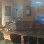 The recording room from the outside . . .