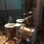 Drum kit in the studio . . .
