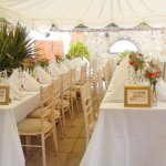 Dining area in one of the Marquees