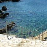 Meerzugang über Steg/Treppe