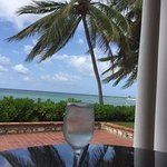 Ocean view directly from the patio. Enjoying a refreshing drink of coconut water