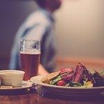 Caribbean Ahi Tuna Salad & Quarrymen Pale Ale.