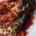 Try a customer favorite, Eggplant Parmesan! Served with a garden salad.