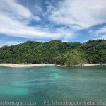 clear waters and blue skies at Isla Tortuga, Costa Rica