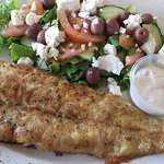 grilled fish & salad