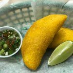 Colombian Empanada at the Latin American Cafe