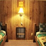 3BR cabin's twin bedroom