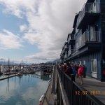 Deck, shops, hotels, restaurants, and adventure outlets