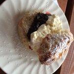 Lovely scone and homemade jam