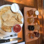 """A """"Flight"""" of the beers and a Cuban-pulled-pork app."""