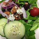 Spinach Salad | Traverse City Cherries | Candied Walnuts | Plath's Bacon