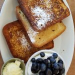 french toast: OK but unevenly cooked and additional sides are a bit pricey and slim
