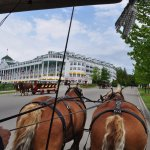 On the carriage ride and passing by the Grand Hotel.