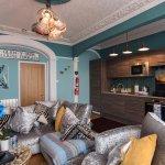 Beachfront Apartment:Living room/Kitchenette