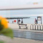 Beachfront Apartment:View of promenade and sea