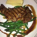 Grilled Rib Eye Steak, Green Beans & Potato Puree