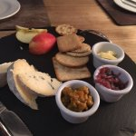 Cheese board and yummy relish/red onion chutney