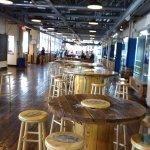 The huge tasting room - bar at far end.