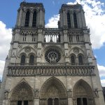in front of Cathedral of Notre Dame