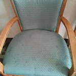 Chair in the room and it was also broken.