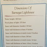 Placard describing lighthouse