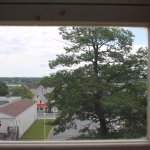View from Beaverbrook's Childhood room, overlooking the former town of Newcastle.