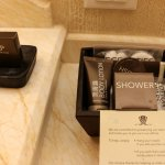 "Marble bathroom with Coco & Tonka Bean ""Wynn"" amenities"