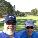 Pierre and I on the first tee.