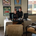 Resort receptionists, Taylor and Natalie -- great smiles!