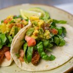 Grilled Salmon Taco with Guacamole