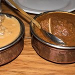 Sangam Lamb Korma (left), Lamb Rogan Josh (right)