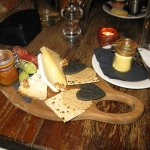 English cheeseboard, pear chutney