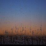 Ventana en la puesta del sol