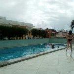 Uma parte da área da piscina