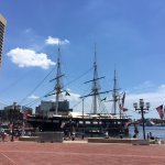 USS Constellation near the taxi stand