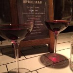 Specials and wine by the glass - all fabulous