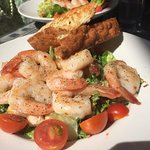 The prawn and kale Caesar salad