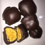 Malta Chocolate Factory is about to open. I got to see some of the dark chocolate covered honeyc