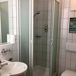 Clean, small bathroom