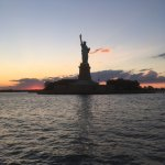 Great views of the Statue of Liberty, along with amazing sunset that day.