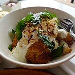 Roast cauliflower with yoghurt dressing