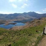 This is where the Pyg splits, carry on the path to the summit, or go right to Crib